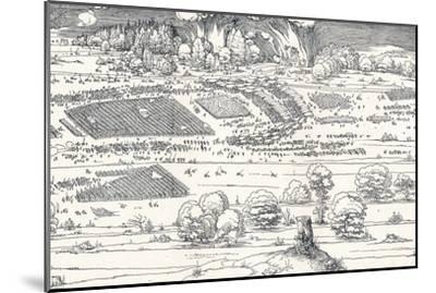 The Siege of a Fortress Ii, 1527-Albrecht D?rer-Mounted Premium Giclee Print
