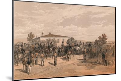 The Funeral Cortege of Lord Raglan Leaving Head Quarters, 1856-Thomas Picken-Mounted Giclee Print