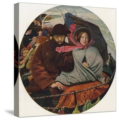 The Last of England, 1855-Ford Madox Brown-Stretched Canvas Print