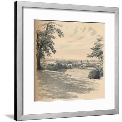 Greenwich Palace from Observatory Hill, 1902-Thomas Robert Way-Framed Giclee Print
