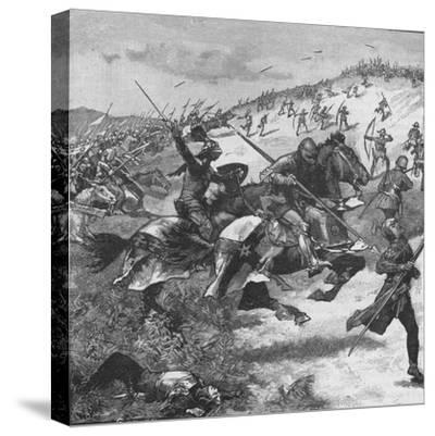 Charge of the Scots at the Battle of Homildon Hill, Northumberland, 1402--Stretched Canvas Print