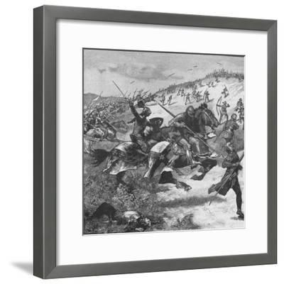 Charge of the Scots at the Battle of Homildon Hill, Northumberland, 1402--Framed Giclee Print
