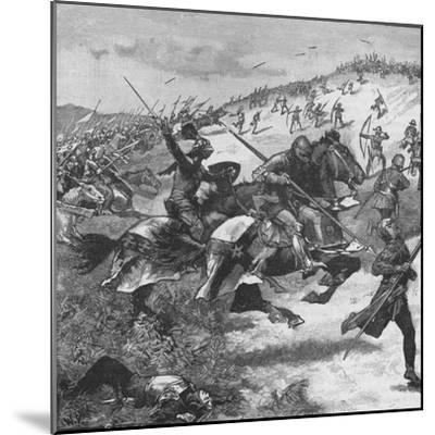 Charge of the Scots at the Battle of Homildon Hill, Northumberland, 1402--Mounted Giclee Print