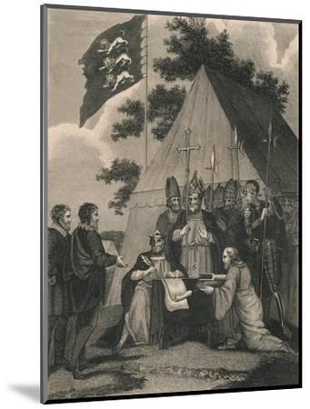 Magna Charter Signed by King John, 1215--Mounted Giclee Print