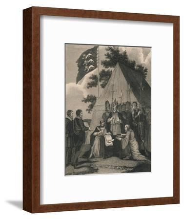 Magna Charter Signed by King John, 1215--Framed Giclee Print