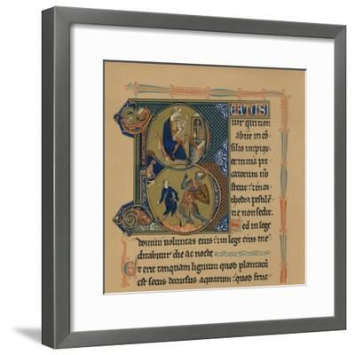Miniature Initial and Part of a Page from a Psalter, (13th Century), 1901--Framed Giclee Print