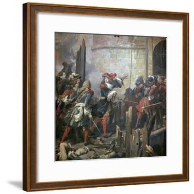 Louis XIV Leads the Assault of Valenciennes, 17th Century-Jean Alaux-Framed Giclee Print