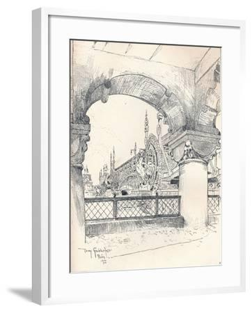 Colonnade Near the Pont Des Invalides, C1900-Tony Grubhofer-Framed Giclee Print