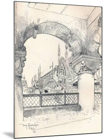 Colonnade Near the Pont Des Invalides, C1900-Tony Grubhofer-Mounted Giclee Print