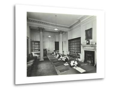 The Cabinet Room at Number 10, Downing Street, London, 1927--Metal Print