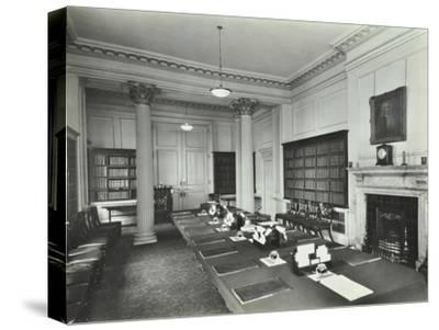 The Cabinet Room at Number 10, Downing Street, London, 1927--Stretched Canvas Print