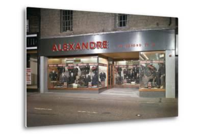 Alexandre of Oxford Street, Mens Clothes Shop Frontage, Mexborough, South Yorkshire, 1963-Michael Walters-Metal Print