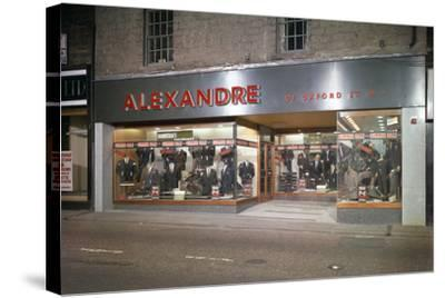 Alexandre of Oxford Street, Mens Clothes Shop Frontage, Mexborough, South Yorkshire, 1963-Michael Walters-Stretched Canvas Print