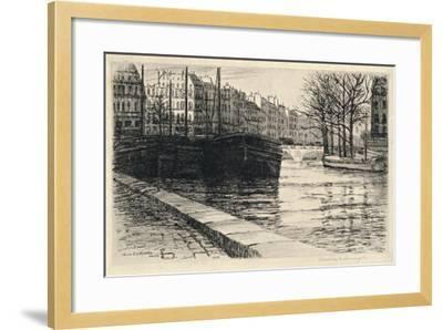 The Pont St Michel, 1915-Caroline Helena Armington-Framed Giclee Print