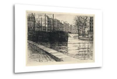 The Pont St Michel, 1915-Caroline Helena Armington-Metal Print