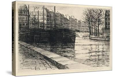 The Pont St Michel, 1915-Caroline Helena Armington-Stretched Canvas Print
