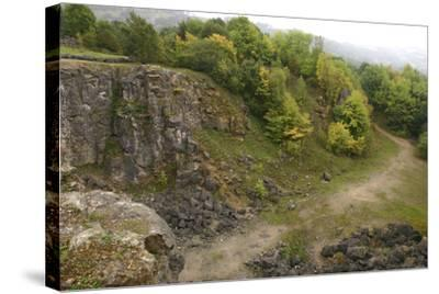Stone Quarry, the National Stone Centre, Derbyshire, 2005-Peter Thompson-Stretched Canvas Print