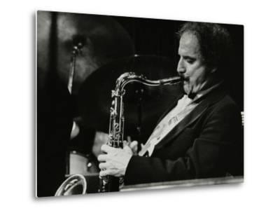 Saxophonist Frank Tiberi Performing at the Forum Theatre, Hatfield, Hertfordshire, 1983-Denis Williams-Metal Print
