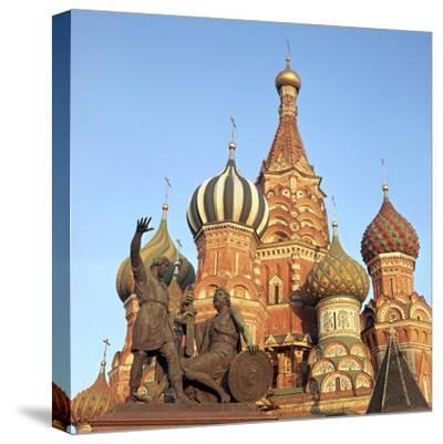 St Basils Cathedral Domes, 16th Century-CM Dixon-Stretched Canvas Print