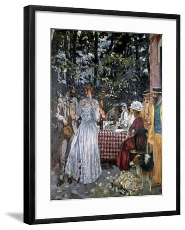 Lunch at Vasouy, 1901-Edouard Vuillard-Framed Giclee Print