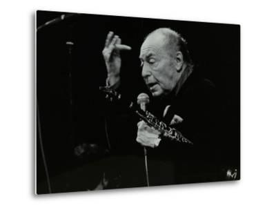 Woody Herman on Stage at the Forum Theatre, Hatfield, Hertfordshire, 24 May 1983-Denis Williams-Metal Print