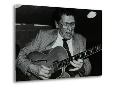 Tal Farlow Playing the Guitar at the Bell, Codicote, Hertfordshire, 18 May 1986-Denis Williams-Metal Print