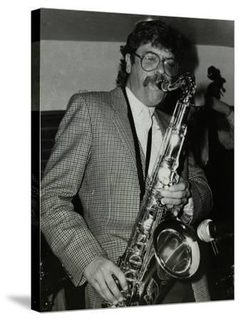 Tenor Saxophonist Alan Skidmore Playing at the Bell, Codicote, Hertfordshire, 16 November 1986-Denis Williams-Stretched Canvas Print