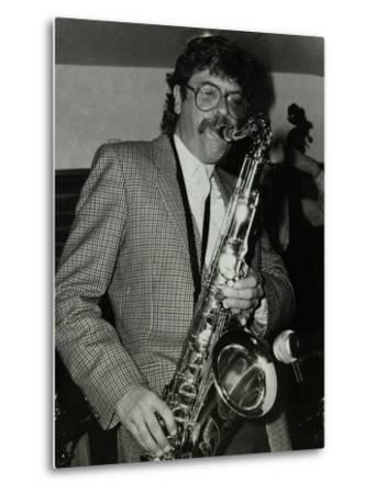 Tenor Saxophonist Alan Skidmore Playing at the Bell, Codicote, Hertfordshire, 16 November 1986-Denis Williams-Metal Print