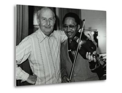 Stephane Grappelli and Claude Fiddler Williams at the Forum Theatre, Hertfordshire, 1980-Denis Williams-Metal Print