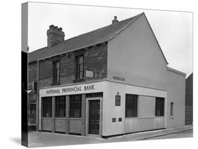 The National Provincial Bank, Goldthorpe, South Yorkshire, 1960-Michael Walters-Stretched Canvas Print