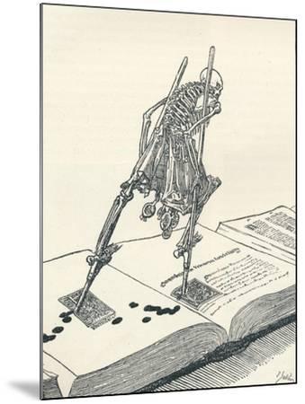 The Modern Dance of Death, C1895-Joseph Kaspar Sattler-Mounted Giclee Print