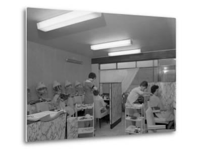 Hairdressers at Work, Armthorpe, Near Doncaster, South Yorkshire, 1961-Michael Walters-Metal Print