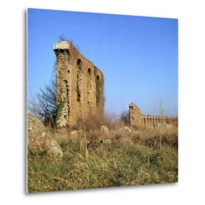 Roman Aqueduct Near the Appian Way, 4th Century Bc-CM Dixon-Metal Print