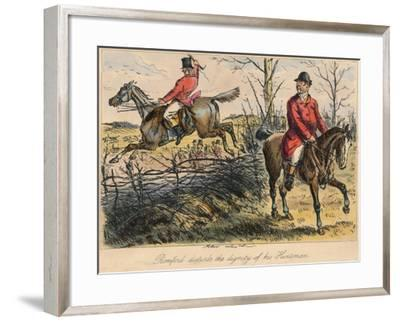 Romford Disturbs the Dignity of His Huntman, 1865-Bradbury, Evans and Co-Framed Giclee Print