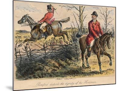 Romford Disturbs the Dignity of His Huntman, 1865-Bradbury, Evans and Co-Mounted Giclee Print