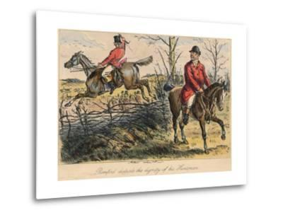 Romford Disturbs the Dignity of His Huntman, 1865-Bradbury, Evans and Co-Metal Print