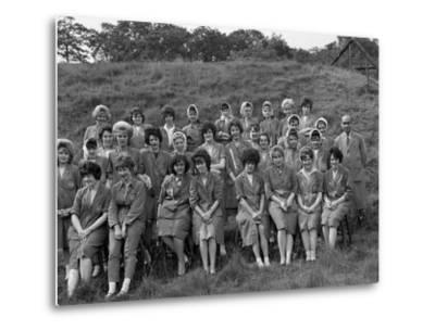 Women from the Ici Powder Works in a Group Photograph, South Yorkshire, 1962-Michael Walters-Metal Print