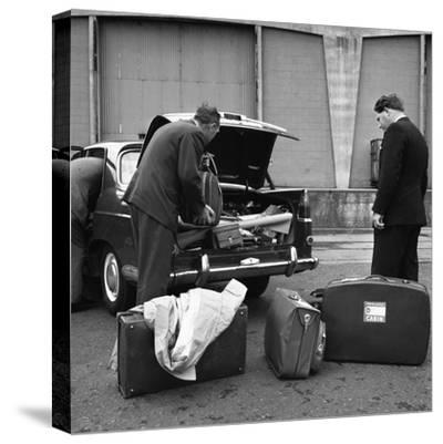 A 1961 Austin Westminster Being Loaded with Luggage on Amsterdam Docks, Netherlands 1963-Michael Walters-Stretched Canvas Print