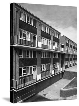 Woodside Maisonettes, Sheffield 13th August 1962-Michael Walters-Stretched Canvas Print
