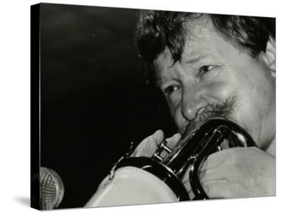 Trumpeter Janusz Carmello Performing at the Fairway, Welwyn Garden City, Hertfordshire, 1991-Denis Williams-Stretched Canvas Print