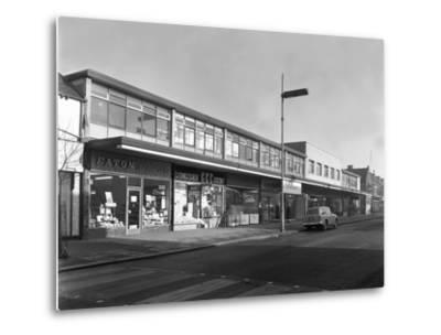 High Street Shopping, Goldthorpe, South Yorkshire, 1961-Michael Walters-Metal Print
