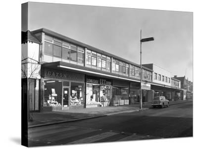 High Street Shopping, Goldthorpe, South Yorkshire, 1961-Michael Walters-Stretched Canvas Print