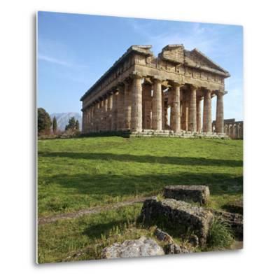 The So-Called Temple of Neptune at Paestum, 5th Century Bc-CM Dixon-Metal Print