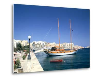 Waterfront of Sliema, Malta-Peter Thompson-Metal Print