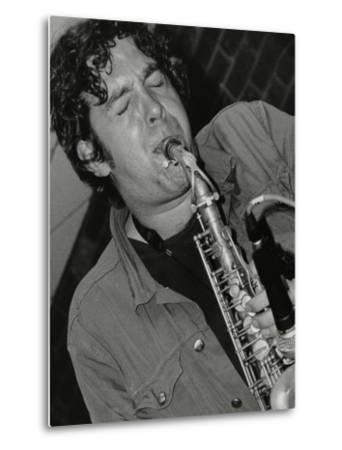 Alto Saxophonist Christian Brewer Playing at the Fairway, Welwyn Garden City, Hertfordshire, 2003-Denis Williams-Metal Print