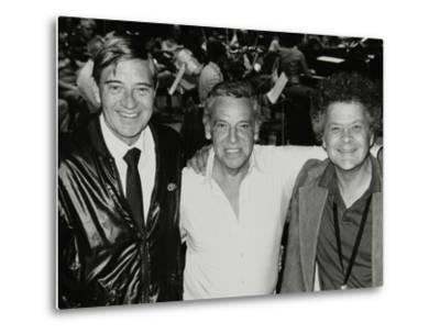 Jack Parnell, Buddy Rich and Steve Marcus at the Royal Festival Hall, London, 22 June 1985-Denis Williams-Metal Print