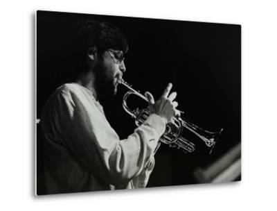 Guy Barker Playing the Trumpet at the Stables, Wavendon, Buckinghamshire-Denis Williams-Metal Print