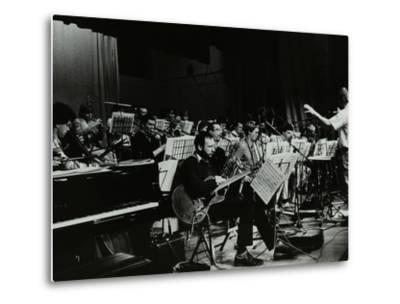 Michael Garrick Conducting an Orchestra at Berkhamsted Civic Centre, 1985-Denis Williams-Metal Print