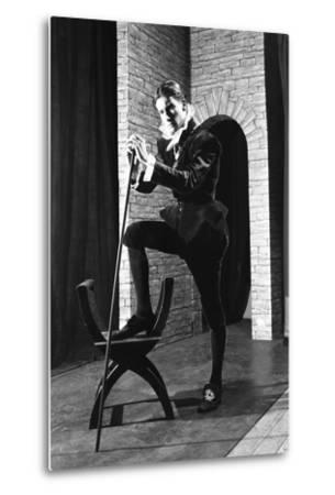 Character from a Production of Shakespeares Twelfth Night, Worksop College, Derbyshire, 1960-Michael Walters-Metal Print