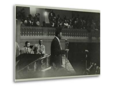 The Count Basie Orchestra in Concert, C1950S-Denis Williams-Metal Print